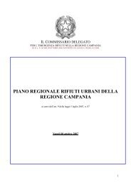 piano regionale rifiuti urbani della regione campania - Osservatorio ...