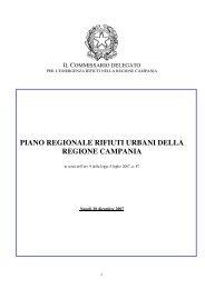 piano regionale rifiuti urbani della regione campania - per