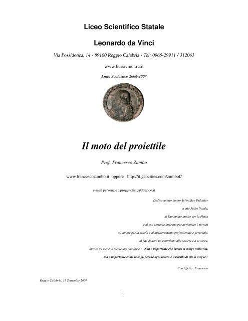 Il moto del proiettile - Francesco Zumbo