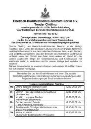 Tibetisch-Buddhistisches Zentrum Berlin e.V. Tendar Chöling