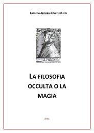 LA FILOSOFIA OCCULTA O LA MAGIA - Ousia.it