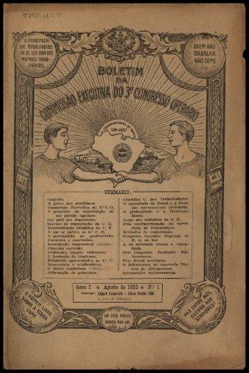"""%'% Anno I & Agosto da 1920 & N."""" 1"""