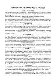 Giochi all'aperto e al chiuso - Università degli Studi di Pavia