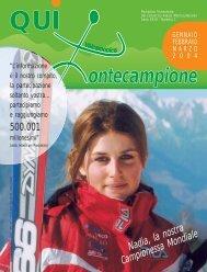 qui montecampione n° 1 gennaio-febbraio-marzo 2004