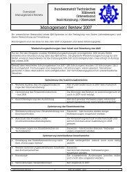 Management Review 2007 - THW OV Bad Homburg / Oberursel