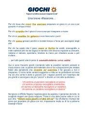 GIOCHI per la pioggia - Diocesi di Foligno