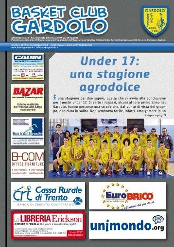 Giornalino – Aprile 2013 - Basket Gardolo