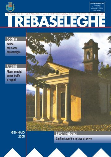 Notiziario - Gennaio 2005.pdf - Comune di Trebaseleghe
