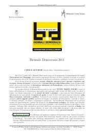 Biennale Democrazia 2011 - Città di Torino