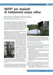 DKFil® per impianti di trattamento acque reflue - Ranieri Editore