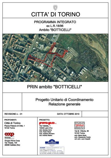 Relazione generale - Città di Torino