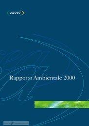 Rapporto Ambientale 2000 - CorporateRegister.com