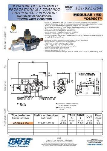 deviatore oleodinamico proporzionale a comando pneumatico 2 ...