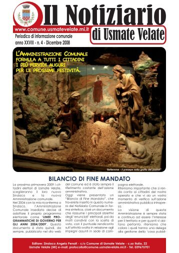 n° 4 - dicembre 2008 - Comune di Usmate Velate