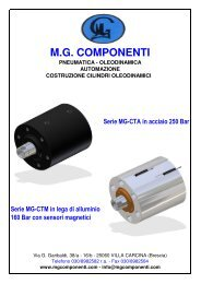 Catalogo CILINDRI TONDI - MG Componenti