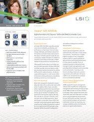 3ware SAS 9750-8i Product Brief - Pogo Linux