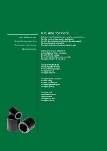 Tubi alto spessore - Marcegaglia