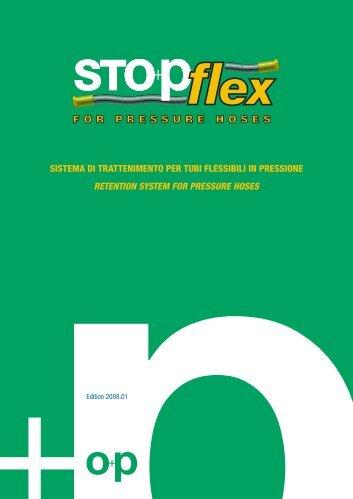 sistema di trattenimento per tubi flessibili in pressione ... - Stopflex