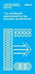 """""""La excelencia operacional en los procesos productivos"""""""