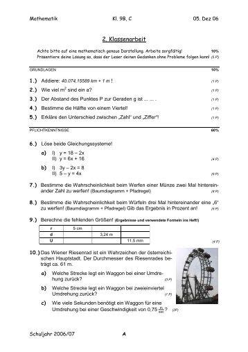 terme und negative zahlen klassenarbeit 2 mathefritz