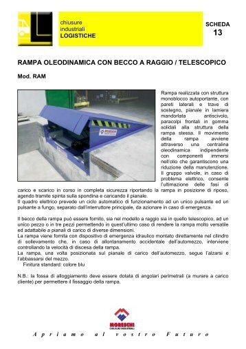 RAMPA OLEODINAMICA CON BECCO A RAGGIO ... - Moreschi S.r.l.