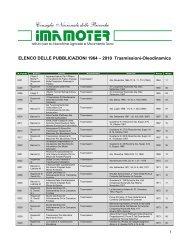 ELENCO DELLE PUBBLICAZIONI 1964 – 2010 ... - Imamoter - Cnr
