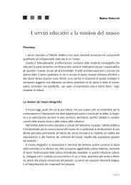 I servizi educativi e la mission del museo - Rete dei Musei e dei Beni ...