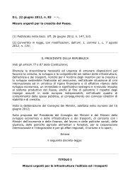 D.L. 22 giugno 2012, n. 83 (1) Misure urgenti per la ... - ClicLavoro