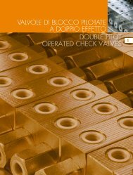double pilot operated check valves valvole di blocco ... - HYDRAFLEX