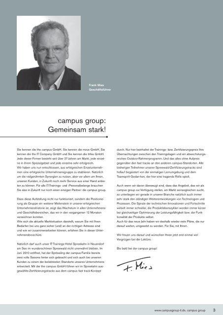 campus group: Gemeinsam stark! - the campus GmbH