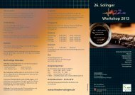 26. Solinger Workshop 2013 - Theater Solingen