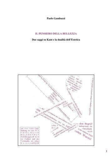 kant_il pensiero_della_bellezza.pdf - Lettere e Filosofia