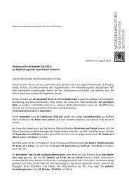 Schwerin im August 2012 Vorhang auf für die Spielzeit 2012/2013 ...