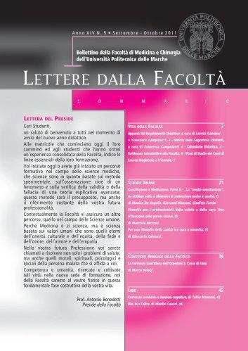 5.Lettere della Facoltà settembre-ottobre 2011.pdf - Facoltà di ...