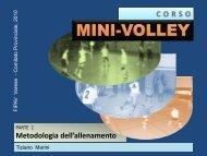 11. La metodologia dell'allenamento nel minivolley