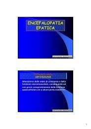 ENCEFALOPATIA EPATICA - Facoltà di Medicina e Chirurgia