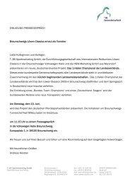 EINLADUNG PRESSEGESPRÄCH Braunschweigs Löwen Classics ...
