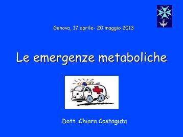 Le emergenze metaboliche