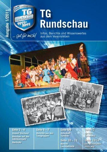 TG Rundschau Ausgabe 1/2011 - TG Höchstädt