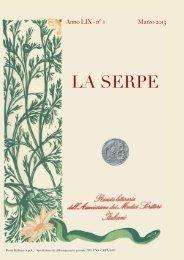 la serpe 01-2013.indd - Amsi-associazione dei medici scrittori italiani