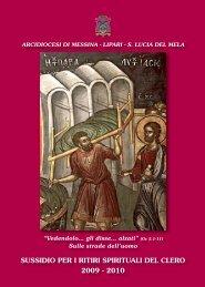 Sussidio per i Ritiri spirituali - Arcidiocesi di Messina