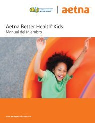 Manual para miembros - Aetna Better Health