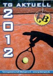TG Aktuell 2012 - Tennisgemeinschaft Bisingen eV