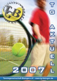 TG Aktuell 2007 - Tennisgemeinschaft Bisingen eV