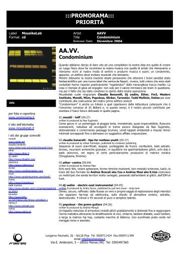 AA.VV. Condominium - Promorama