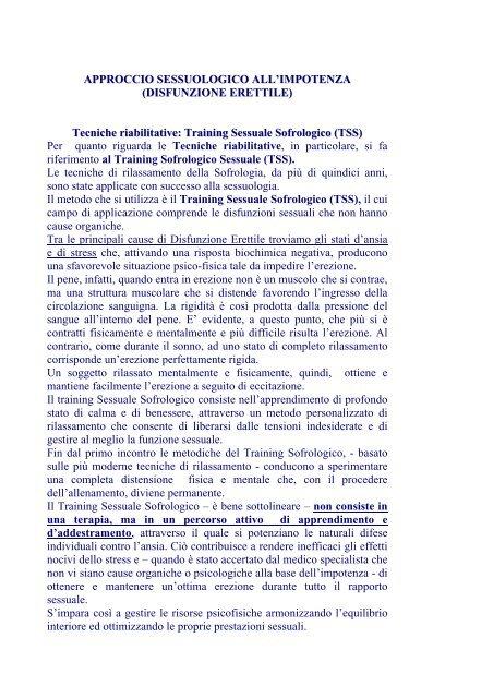 disfunzioni erettili e controllo dell erezione osteopatia