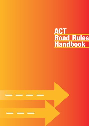 ACT Road Rules Handbook