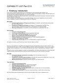 CAPABILITY LIST Part 21G CAPABILITY LIST ... - Test Fuchs - Seite 2