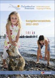 Gastgeberverzeichnis 2012/2013 - Stadt Tettnang