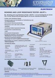 bonding and loop resistance tester  - Test Fuchs